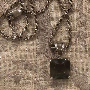 Czech/Bohemian Faceted Moldavite 925 Pendant/Chain